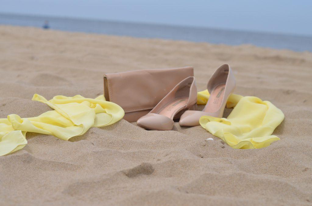 Hochzeitsgast Details am Meer