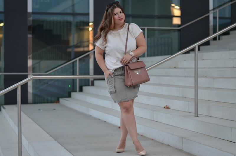 Sommer Outfit, Khaki und Beige