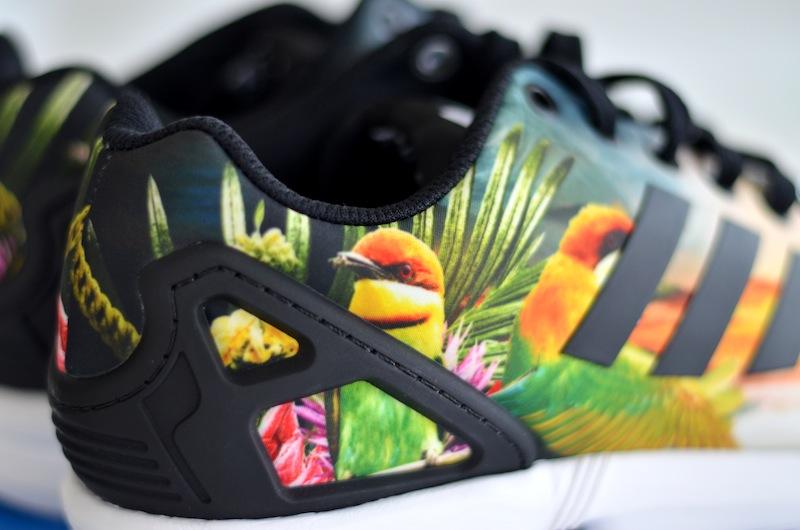 ZX Flux Adidas Schuhe mit Blumenmuster Kleiderkreisel