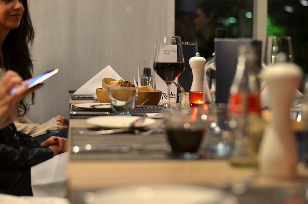 Gemeinsames Dinner im Ginger im Radisson Blu Hotel Dortmund