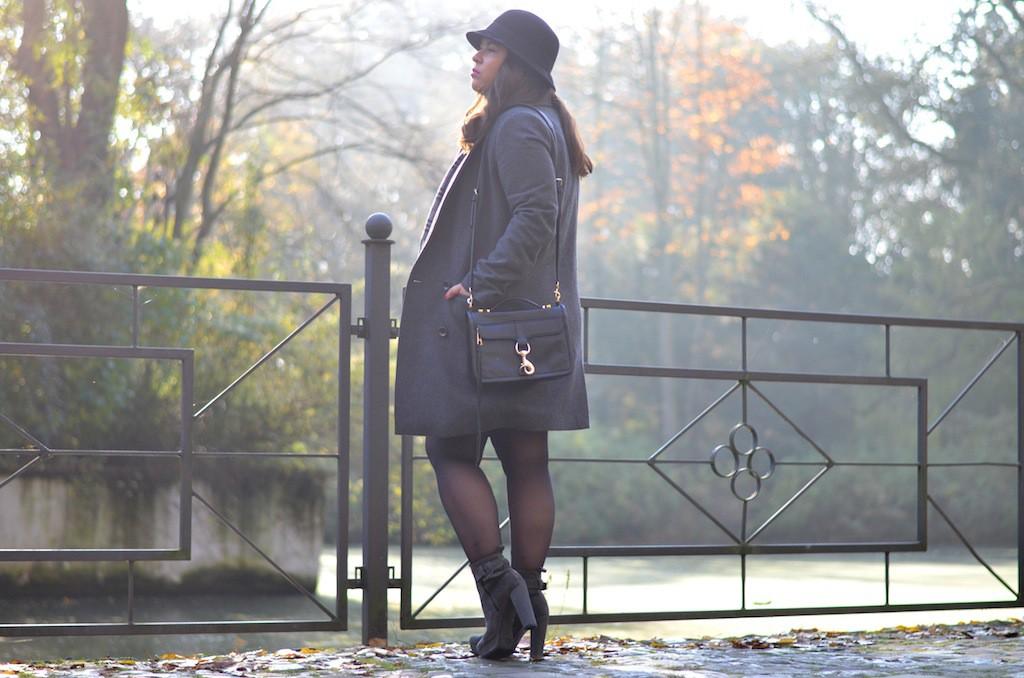 Herbst Outfit Grau Burberry Rebecca Minkoff Kennel und Schmenger Hut