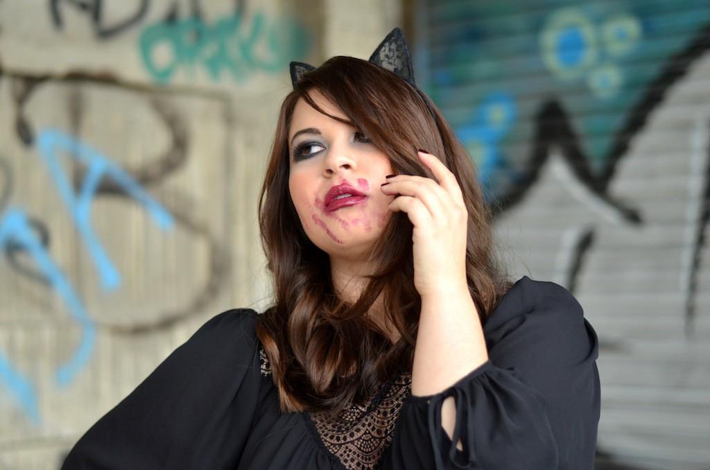 Last Minute Halloween Make Up Inspiraion feminin Grunde Look 03