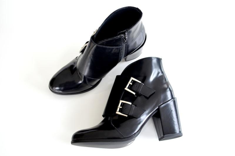 Schwarze Lack Leder Boots 3