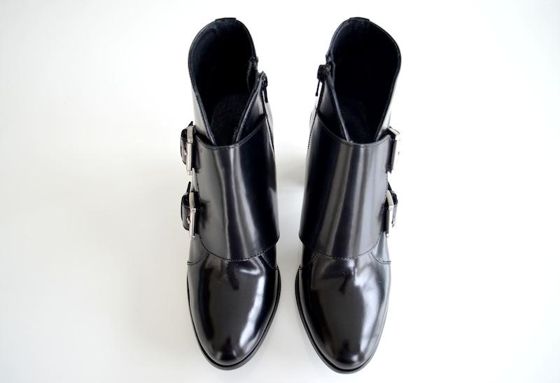 Schwarze Lack Leder Boots