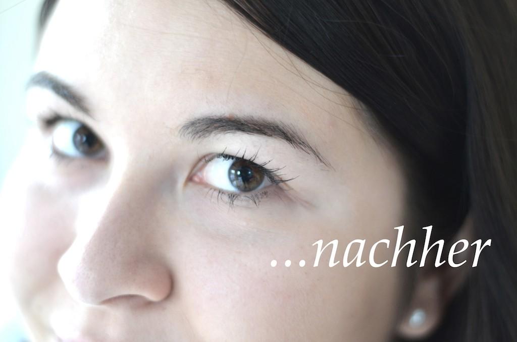 Shiseido FUll Lash Serum im Test nachher